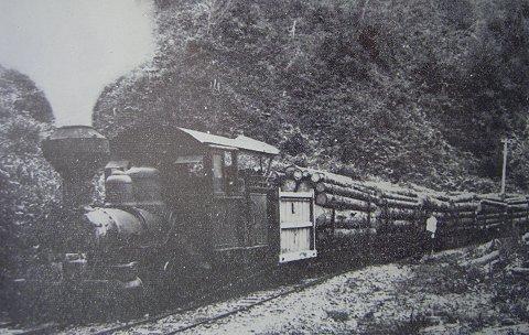 ボールドウィン機関車による運材